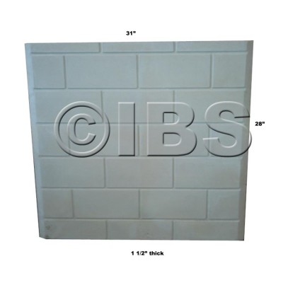 Monessen 050453K Firebrick Back Assembly Hwb700